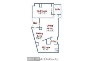 ONE BEDROOM CONDO WITH BALCONY AT THE ELIZABETH IN CHEVY CHASE
